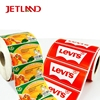 custom label adhesive stickers roll with printed thank you sticker free design private label rolls color bar code label