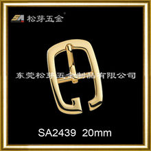 Song A metal antique brass small shoe pin buckles