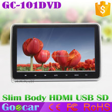 Super Slim 10 inch TFT LCD Touch Headrest DVD Player With HDMI USB SD