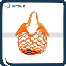 Hollow out felt shopping bag mesh shape fruitage handle bag