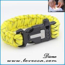 2014 top sale multicolor plastic clasp paracord survival bracelet stainless steel 550 clasps paracord bracelets