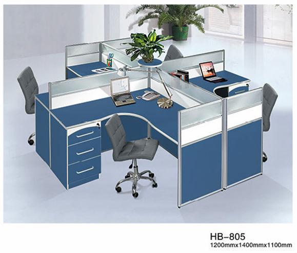 Vert et blanc couleur m lamine type quatre personnes for Type de bureau de travail