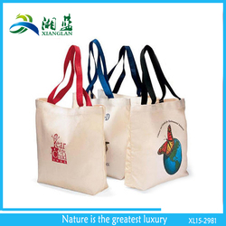 ladies' shopping bag, colored large cotton tote bag