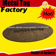 antigüedades de latón chapado color de la insignia del metal