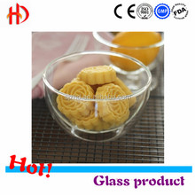 wholesale round crystal glass fruit bowl, beaded crystal bowl