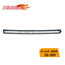 288w 51 inch curved off road led light bar cree