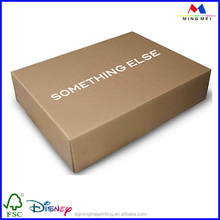 Wholesale different designs clothes shipping corrugated paper box