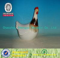 Chaozhou handmade ceramic chicken ornament