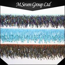 Wholesale colorful beaded lace trim beads trim handmade beaded fringe trim for decoration