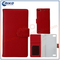 Leather Flip Wallet Case with Credit/ID Card Slot For Blackberry Z3