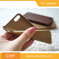 Premium quality ultra thin wood leather tpu back cover cell phone case for iphone 5 5s