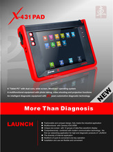 100% Original Launch X431 PAD In stock Support 3G Wifi X-431 PAD Launch Update Online Free shipping
