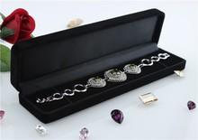 Customized Velvet Jewelry Packing Box wholesale&wholesale jewelry box lining fabric,custom bracelet box