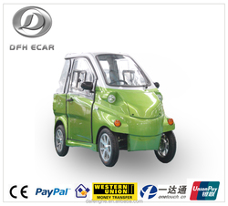 electric car with 2 seats EEC and COC certificate