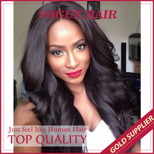 Beautiful style indian remy kinky curly high temperature human hair full lace wig