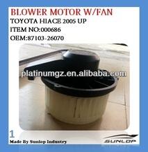 #000686 toyota hiace blower motor for hiace KDH 200 87103-26070