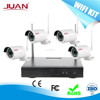 Wireless HD NVR KIT 720P 4CH Wifi NVR KIT Signal Range 100 Meters Across 4 Wall With Outdoor Camera