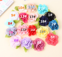 colorful chiffon lace Flower/ shabby rose flower wholesaler, garments, hats , hair decoration accessories