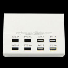 5V10A desktop type office use safety passed 8USB ports charger for easycap usb 2.0 audio video capture adapter