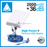 5m cable /10m cable usb wifi adapter,150mbps wifi dongle,36dbi antenna network card