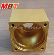 Cold Convert CNC Precision Machining Aluminium 5083 Powdercoat Golden Yellow Housing