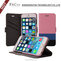 Ultra slim pu leather wallet stand folio protective case for iphone 6s cover case