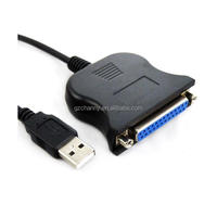 Lowest Price 4ft DB25 25 Pin USB to Female Parallel IEEE 1284 Printer Adapter Cord Cable Printing Accessory