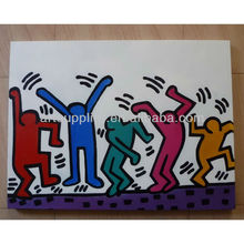 Handmade abstract figure Oil painting,Keith Haring Reproductions