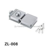 D lock rim lock glass door lock ZL-008