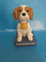 custom bobble head dog,resin animal doll