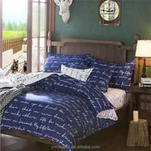 White letters on dark blue material comforters sets home and hotels choice polyester bedding set wholesale