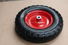pu barrow solid rubber wheel