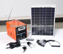 New Style Portable Small Emerngency 10w Solar Power Home Lighting Rechargeable Battery Oem Solar Panel System