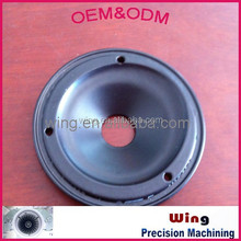 OEM push cap, aluminum lid with electroplating, powder coating