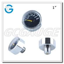 High Quality brass 1 inch mini air pump pressure gage