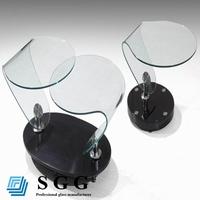 High quality swivel glass top coffee table