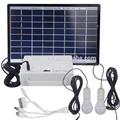 18v 8w sistema de luz solar con 2 bombillas