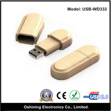 top selling promotional cheap custom mini wood usb2.0 flash drive (Model: USB-WD332)