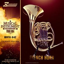Musical instrument golden french horn for slae