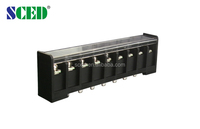 electric terminal block barrier type 9 pin connector