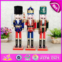 Christmas Wooden Decorative Nutcracker Soldier,Wooden crafts nutcracker soldier toy,Wooden doll for party decoratiion W02A044