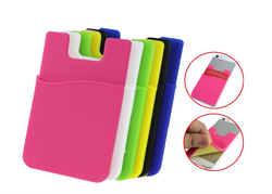 Smart silicone card holder adhesive, silicone card holder wallet
