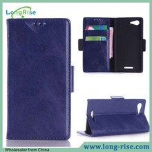 High Quality Cheap Price Wallet Style Flip Cover Mobile Phone Case for Sony Xperia E3