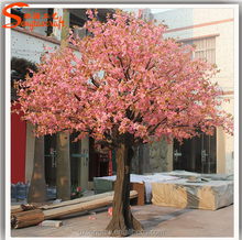 Wedding pink cherry blossom tree wedding flower tree home decoration artificial tree