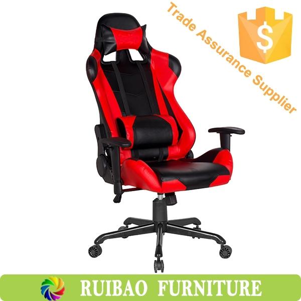 Красный кожаный спортивные сиденья секс стул / гоночные кресла для интернет-кафе