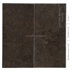 Mediterranean Gold Chocolate Brown Tile Limestone Slabs Sale