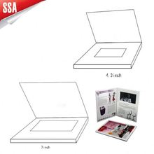2012 hottest lcd video booklet brochure ,with USB port and 4.3 inch screen