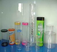 PET/PVC/PP transparent clear plastic tubes packaging boxes
