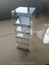 Manufacturer supplies clear acrylic cell phone display rack