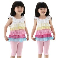 2012 Cute New Fashion Design Cotton Summer Female Shirt Kids Shirts